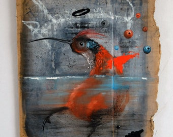 bird (oilpaint on cardboard)