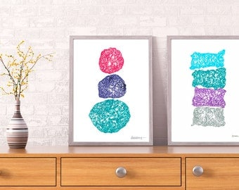 Set Of 2 Abstract Drawings