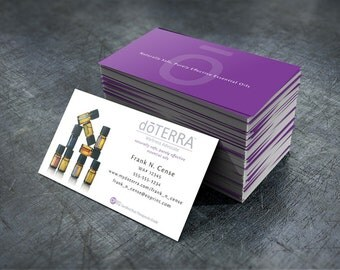 doTERRA Business Cards - Bottles w/ Purple Back