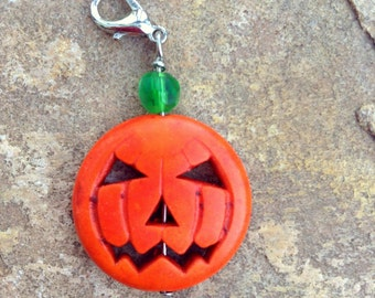 Zipper Pull - Halloween Pumpkin, Jack-O-Lantern