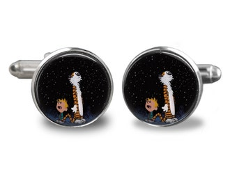 Calvin and Hobbes Handmade Cufflinks