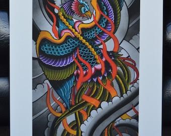Phoenix Watercolor Print