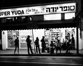 Tel Aviv Fine Art Photography, At the bus stop, Israel