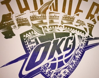 OKC Thunder on canvas