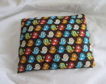 FREE SHIPPING Organic microwavable heat pack, cute bird pattern