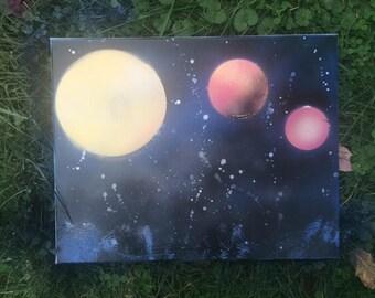 Galaxy / Space Canvas Art 11x14