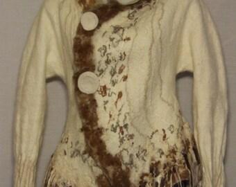 Hand Felted Winter Coat, New Zealand