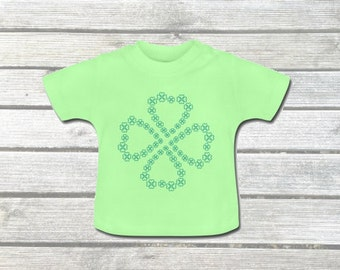 Baby T-shirt with clover