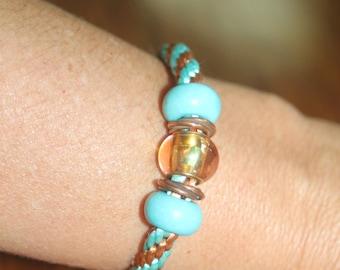 Southwestern Delight Kumihimo Braid Bracelet