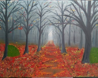 Autumn Woods - Oil Painting