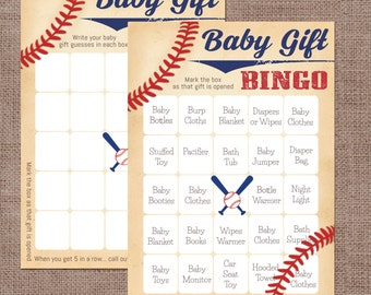 baby shower bingo baseball themed baby shower