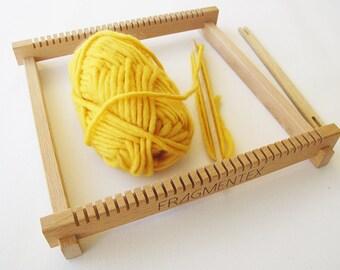 Hand Web framework / weaving loom beech incl. 2 shuttle