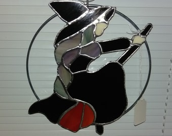 Stained Glass Halloween Witch