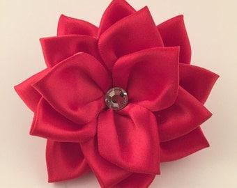 Red Flower Barrette