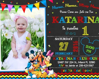 Mickey Mouse Clubhouse Invitation Birthday Mickey Mouse Clubhouse Party