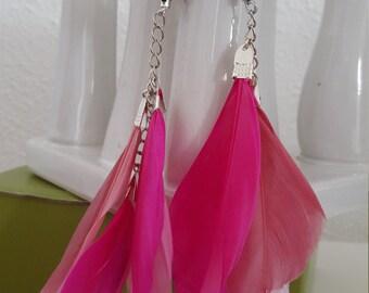 feathers earrings