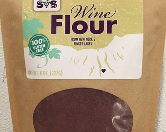 Cabernet Wine Flour. Gluten Free. Nutrition. Flavor. High Protein. High Fiber. Local Food.