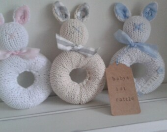 Knitted Personalised Rattles