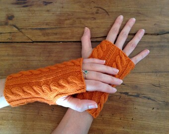Orange Japanese mittens