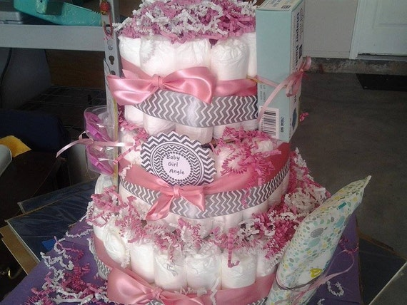 Baby Shower Cakes For Sale ~ Big tier diaper cake large for sale baby