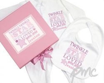 New Baby Personalised Gift Set