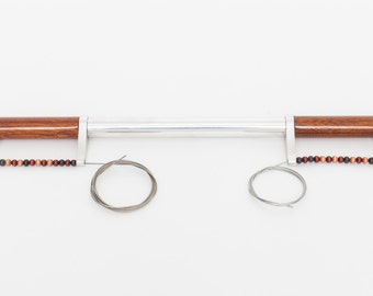Bicycle Handlebar with Mahogany Grips