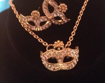 50 Shades of Grey, masquerade earings and necklace, rhinestone masks,