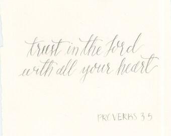 Proverbs 3:5 Calligraphy