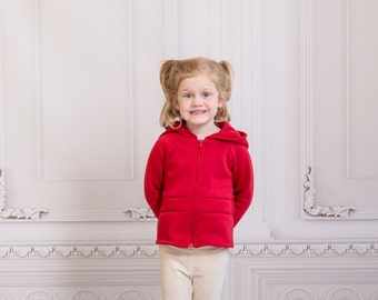 Girls' Glacial Hoodie, sizes 2T-5T