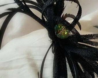 Black fascinator for any event