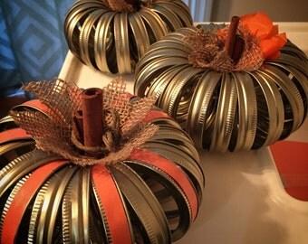 Mason Jar Pumpkins