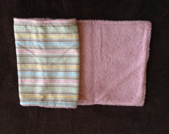 Flannel Terry Cloth Burp Pad