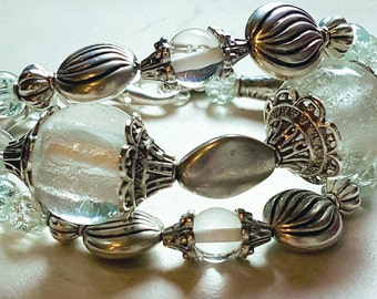 Glasswork, glass,Boho Bracelet****price reduced ****