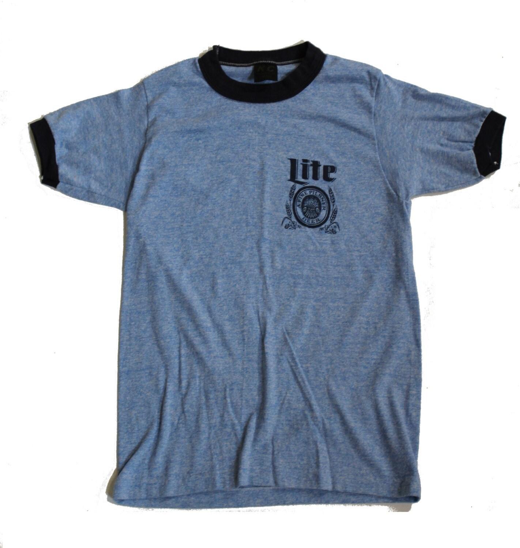 Miller Lite Beer 1970 39 S Ringer T Shirt Xs
