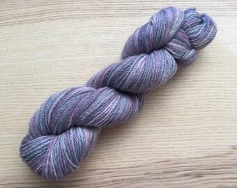 handdyed lavender 4 ply fingerling alpaca yarn