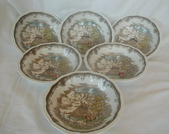 Shakespeares Sonnets Kensington Ironstone Cereal Bowls x 6