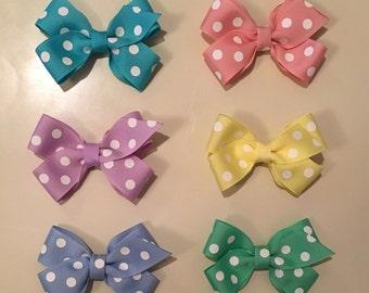 Polka Dot Pastel Hairbows