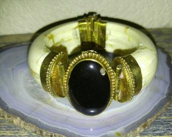 Antique Kuchi bone and stone bracelet