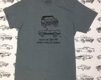Chevy Truck K5 Blazer Shirt- Sexual Humor Chevy Truck Shirt- Chevy Truck Gift- Funny Gift- Size Small