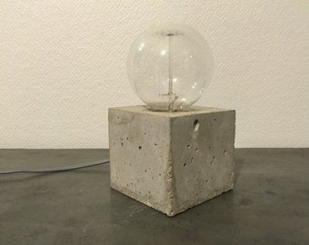 Molded concrete Cube lamp