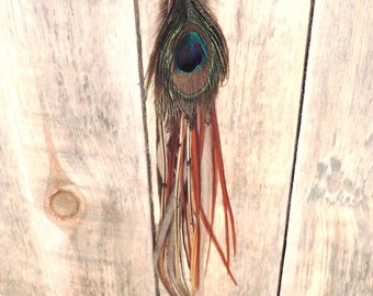 XL single feather earring
