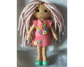 Cute Doll, Gingermelon pocket doll, eco friendly toy