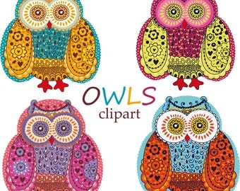 30% OFF AND MORE. Owls. Digital clip arts. Owls clipart. Digital owls. Clipart. Cute owl clipart