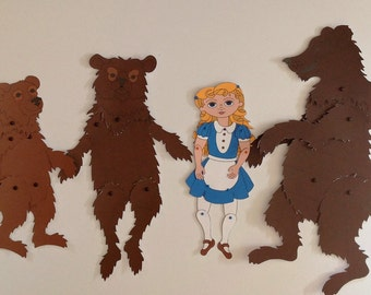 Goldilocks & The Three Bears Articulated Paper Dolls