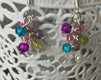 Flutter Beaded Cluster Earrings