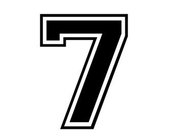 iron on number 7 frt tshirt transfer, instant download