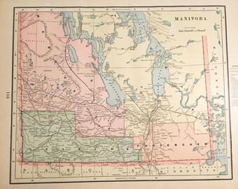 Manitoba Map Etsy - Map of manitoba