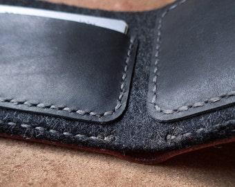 Leather felt wallet