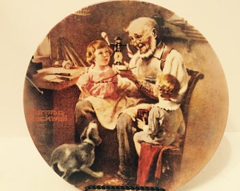 """1977 Norman Rockwell """"The Toy Maker"""" Collector Plate"""