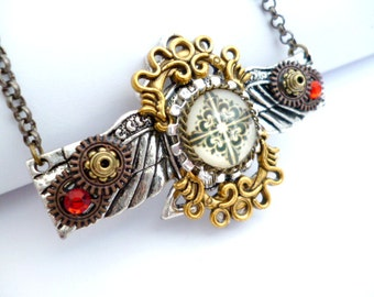 Steam Punk Necklace_ST0772549_Steampunk Accessories_Wings Necklace_Gift Ideas